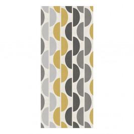 Koberec Floorita Halfmoon Grey Ochre, 60 × 115 cm