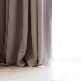 Svetlosivý záves DecoKing Pierre, 140 x 270 cm