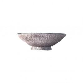 Béžová keramická vysoká miska na polievku Mij Earth, ø 24 cm