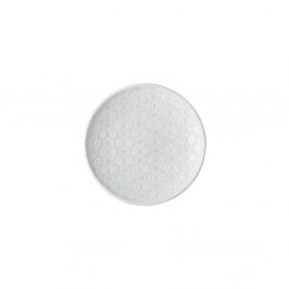 Biely keramický tanier Mij Star, ø 17 cm