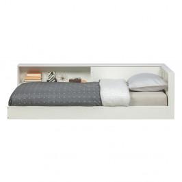 Biela jednolôžková posteľ z borovicového dreva WOOOD Connect