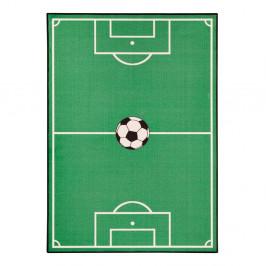 Detský zelený koberec Zala Living Football, 140×200 cm
