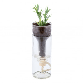 Sklenený kvetináč so samozavlažovaním Esschert Design