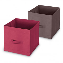 Úložný box s úchytmi v hnedej farbe Domopak