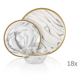18-dielny set porcelánového riadu Mia Lucid Grey