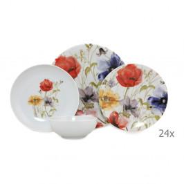 24-dielny set porcelánového riadu Kütahya Porselen Herbejo