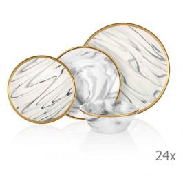 24-dielny set porcelánového riadu Mia Lucid Grey