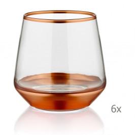 Sada 6 pohárov Mia Glam Bronze, 257 ml