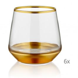 Sada 6 pohárov Mia Glam Gold, 257 ml