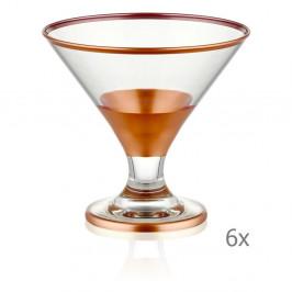 Sada 6 koktejlových pohárov Mia Glam Bronze, 225 ml