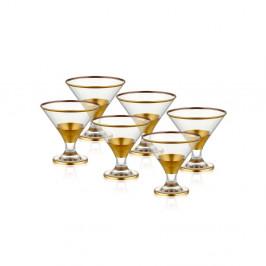 Sada 6 koktailových pohárov Mia Glam Gold, 225 ml