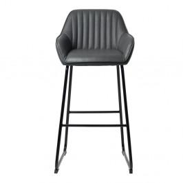 Sivá barová stolička Unique Furiture Brooks
