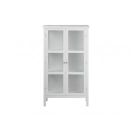 Biela dvojdverová vitrína Actona Eton, výška 136 cm
