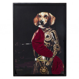 Obraz v ráme Kare Design Sir Dog, 80 × 60 cm