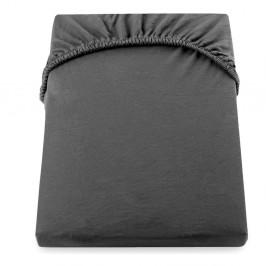 Tmavosivá elastická bavlnená plachta DecoKing Amber Collection, 200/220 x 200 cm