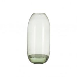 Zelená sklenená váza A Simple Mess Hedge, výška 38 cm