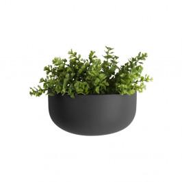 Matne čierny nástenný keramický kvetináč PT LIVING Nest