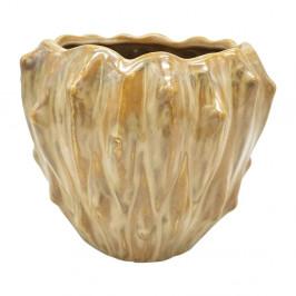 Pieskovohnedý keramický kvetináč PT LIVING Flora, ø 16,5 cm