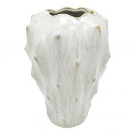 Slonovinovobiela keramická váza PT LIVING Flora, výška 23,5 cm