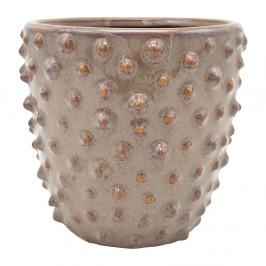 Sivo-ružový keramický kvetináč PT LIVING Spotted, ø 14 cm