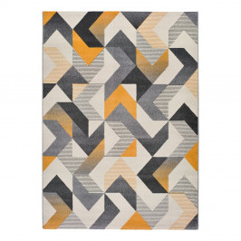 Oranžovo-sivý koberec Universal Gladys Abstract, 140 x 200 cm