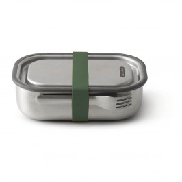 Desiatový box z antikoro ocele so zeleným remienkom Black + Blum