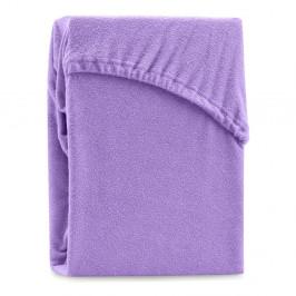 Fialová elastická plachta na dvojlôžko AmeliaHome Ruby Purple, 220-240 x 220 cm