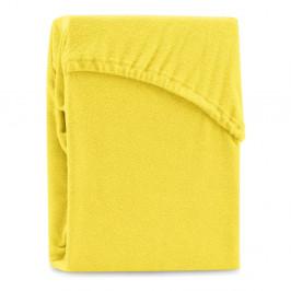 Žltá elastická plachta na dvojlôžko AmeliaHome Ruby Siesta, 220-240 x 220 cm