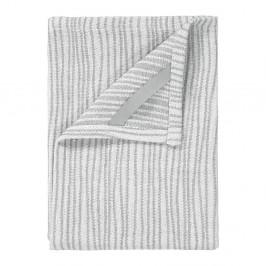 Sada 2 sivo-bielych bavlnených utierok na riad Blomus, 50 x 70 cm