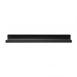 Čierna kovová kúpeľňová polička Blomus, dĺžka 51 cm