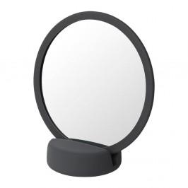 Sivo-čierne stolové kozmetické zrkadlo Blomus, výška 18,5 cm