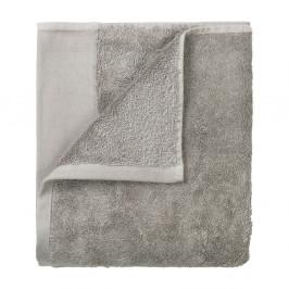Sada 4 sivých uterákov Blomus, 30 x 30 cm