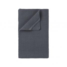Sivočierna pletená utierka Blomus Wipe, 55×32 cm