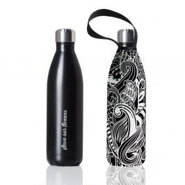 Cestovná termofľaša s obalom BBBYO Black Matt Koru, 1 l