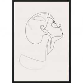 Nástenný plagát v ráme SKETCHLINE/FACE, 50 x 70 cm