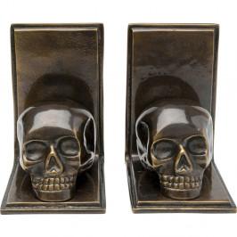 Sada 2 dekoratívnych zarážok na knihy Kare Design Skull