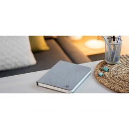 Sivá veľká LED stolová lampa v tvare knihy Gingko Booklight