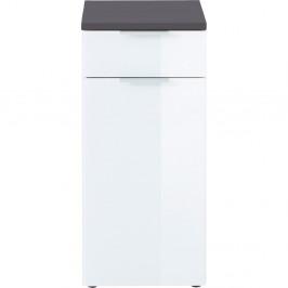 Bielo-sivá skrinka Germania Pescara, výška 86 cm