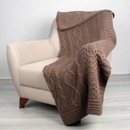 Svetlohnedá deka Homemania Teta, 170×130 cm