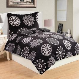 Mikroplyšové obliečky My House Coco Black, 140 x 200 cm