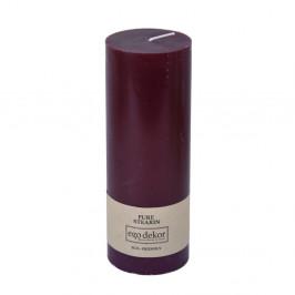 Vínovočervená sviečka Baltic Candles Eco, výška 20 cm