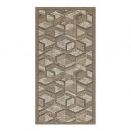 Sivo-hnedý behúň Floorita Hypnotik, 55 x 240 cm