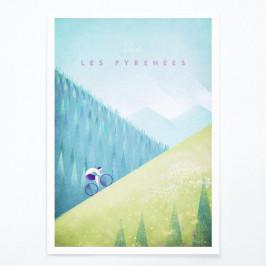 Plagát Travelposter Les Pyrenees, A2