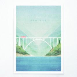 Plagát Travelposter Big Sur, A3