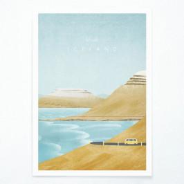 Plagát Travelposter Iceland, A3