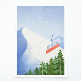 Plagát Travelposter Les Alpes, A3