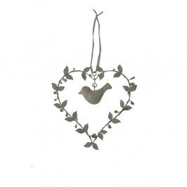Dekoratívne závesné srdce Antic Line Bird