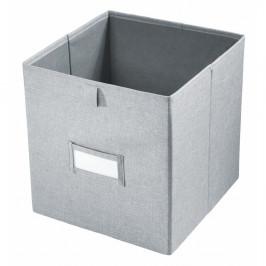 Sivý úložný box iDesign Codi, 38,1 × 26,6 cm