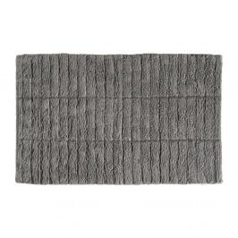 Sivá bavlnená kúpeľňová predložka Zone Tiles, 50 × 80 cm