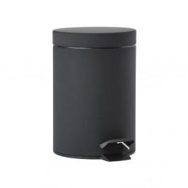 Čierny pedálový odpadkový kôš Zone One